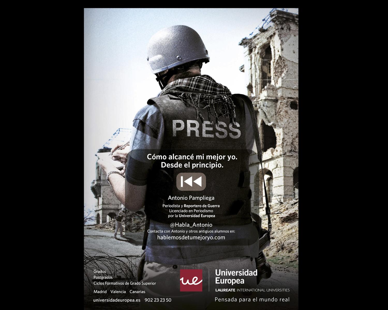 Publicidad fotografica para universidad europea Madrid